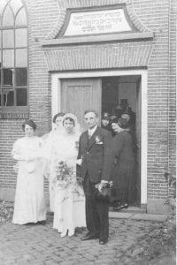 Huwelijk Betje de Levie en Viktor Metzelaar 1937