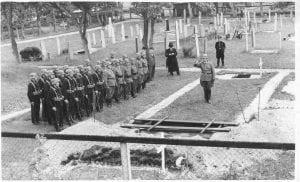 begrafenis van een Duitse soldaat datum onbekend